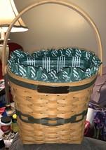 1998 Longaberger Christmas Collection Glad Tidings Basket Set   A26 - $12.87
