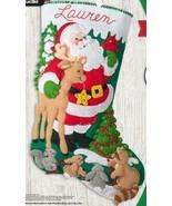 Bucilla Forest Greetings Santa Deer Christmas Delivery Felt Stocking Kit... - $37.95