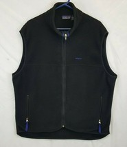 Vtg Patagonia Black Fleece Vest Mens XL USA Made Retro X Pile - $35.21