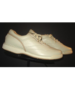 Men's Rockport ProWalker Bone/Ivory Leather Classic Walking Oxford Sz. 9... - $49.01