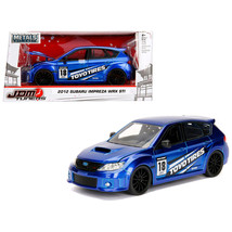 2012 Subaru Impreza WRX STI Blue JDM Tuners 1/24 Diecast Model Car by Jada 30390 - $30.60