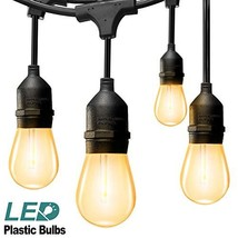 addlon LED Outdoor String Lights 48FT : with Dimmable Edison Vintage Pla... - €36,88 EUR