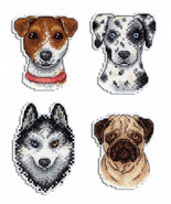 Mini Cross Stitch Easy Embroidery Kit Who said Woof? 4 in 1 - $8.23
