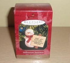 Hallmark 1999 Ornament New in Box ~ Millennium Snowman - $6.44