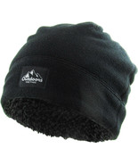 KB ETHOS Fleece Fur Lined Sherpa Skull Cap Black Knit Winter Hat Beanie - $16.14