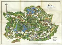 Magic Mountain Map 1971 POSTER 24 X 36 Inches Beautiful  Nostalgia Disneyland - $19.94