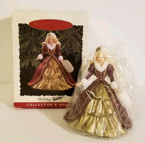 Holiday Barbie #4 1996 and #5 1997 Collectors Series Hallmark Keepsake Ornaments