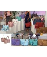JOY Mangano Luxe Genuine Leather Handbag, Chic Crossbody with Shopper Tote - $34.64+