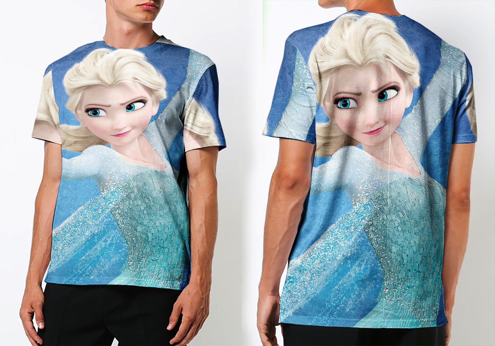 Cartoon frozen princess tee men s