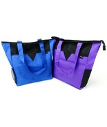 Large Zip Top Shopping Tote, Maximum Capacity, Choice of Blue or Purple, #TB6108 - $12.95