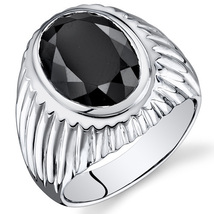 Men's Sterling Silver 7 Carat Onyx Ring  - $99.99