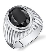 Men's Sterling Silver 7 Carat Onyx Ring  - $110.99