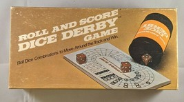 VTG 1977 ROLL & SCORE DICE DERBY GAME BY E.S. LOWE COMPLETE - $19.61