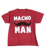 Macho Man Red Tee T Shirt Top Shirt Mustache 14 16 - $4.94