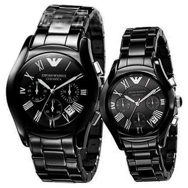 Primary image for EMPORIO ARMANI HIS & HERS AR1400 AND AR1401 WATCHES