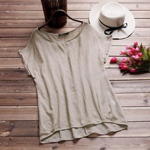 2018 ZANZEA Women Blusas Summer Blouse O Neck Short Batwing Sleeve Casual Cotton - $42.80