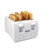 Better Chef 4 Slice Dual-Control Toaster in White - $59.85
