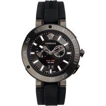 Versace VCN020017 V-Extreme Black Dial Rubber Strap Men's Watch - $1,564.72