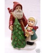 HOMCO PORCELAIN FIGURINE SANTA LITTLE GIRL TREE # 5303 - $13.85