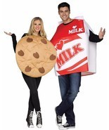 Cookies & Milk Couples Costume Food Halloween Party FW130754 - $1.135,24 MXN
