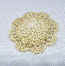 Large Vintage Celluloid Flower Brooch from Japan - $38.00