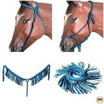 Hilason Horse Headstall Breast Collar Halter Rein Fringe Braided Paracor... - $79.19