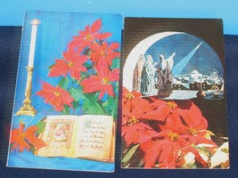 LOT /2 CHRISTMAS GREETING CARDS MESSAGE BY HENRY G. PERRY H. ARMSTRONG R... - $10.40