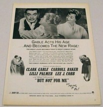 """1959 Print Ad Magazine Movie Ad """"But Not for Me"""" Clark Gable & Carroll B... - $18.83"""