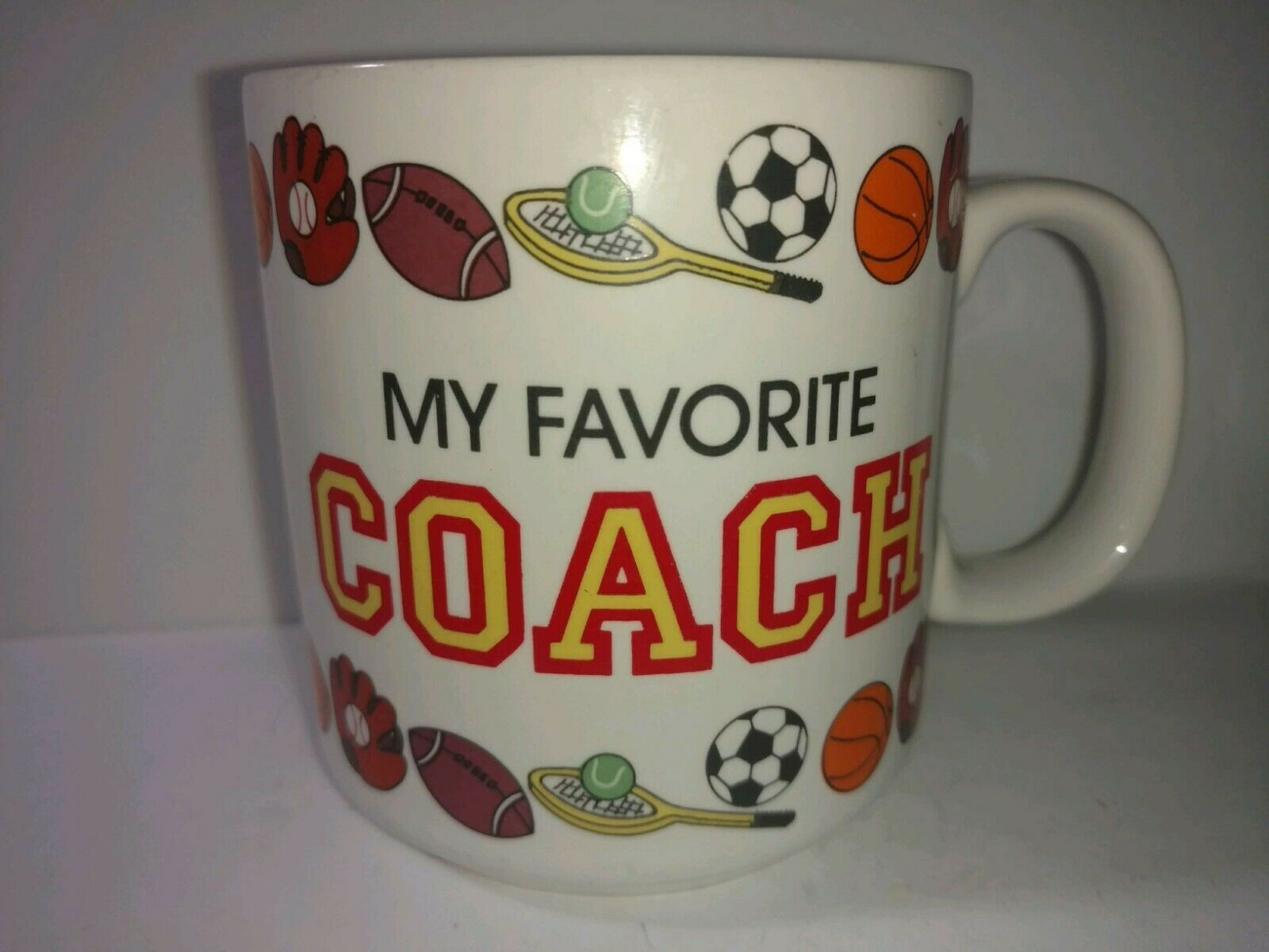Primary image for My Favorite Coach Coffee Mug RUSS  Baseball Football soccer Tennis