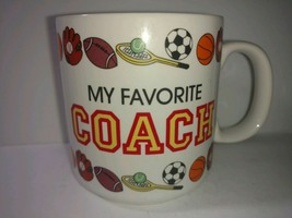 My Favorite Coach Coffee Mug RUSS  Baseball Football soccer Tennis - $22.76