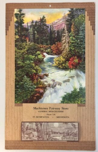 Vtg 1946 Calendar Machtemes Fairway Store St. Bonifacious Minnesota