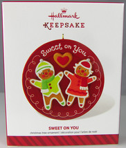 SWEET ON YOU Gingerbread Boy & Girl 2014 Hallmark Christmas Holiday Orna... - $9.50
