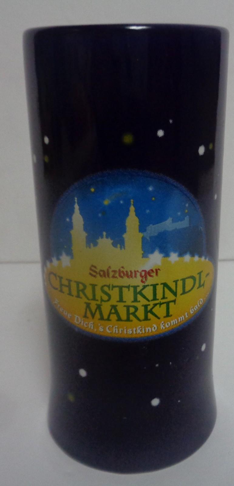 "Salzburger Christkindl German Beer Mug Glass 5.25"" Mohaba Company"