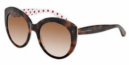 Dolce & Gabbana Women Cat Eye Sunglasses DG4227 287213 Havana Frame Brow... - $115.03