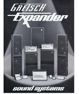 ORIGINAL Vintage 1970s Gretsch Expander Sound Systems Catalog - $27.86