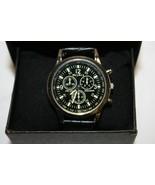 McyKcy  Men Casual Quartz Black Leather Band New  Analog Wrist Watch - $14.84