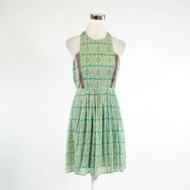 Ivory blue geometric ANTHROPOLOGIE PLENTY BY TRACY REESE A-line dress 2 - $49.99