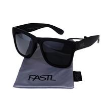 PASTL Sunglasses Polarized Lens Soft Matted Black Square Frame Unisex - $15.95