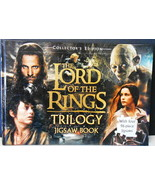 LORD OF THE RINGS TRILOGY JIGSAW PUZZLE BOOK 4- 96 PIECE JIGSAWS HARDCOV... - $34.65