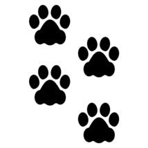 LiteMark 3 Inch Black Removable Dog Paw Prints - Pack of 48 - $27.95