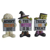 Darice Halloween Monster Statue: 4.13 x 7.88 inches Mummy Witch Monster w - $13.99