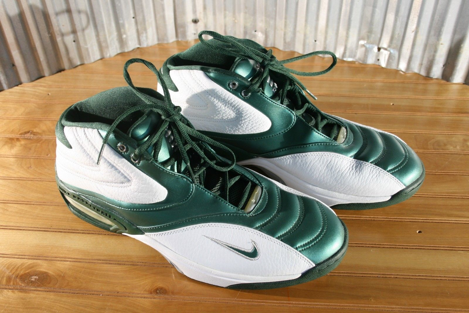 d683e323fbe2 Max Air Nike Basketball Shoes Green White and 12 similar items. 57