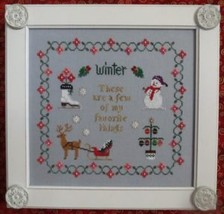 Favorite Things In Winter christmas cross stitch chart Stitches Through ... - $10.80