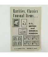H.E. HARRIS 1960 RARITIES & CLASSICS & UNUSUAL ITEMS INTERESTING BOOKLET   - $17.50