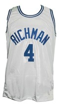 Tyrone Evans #4 Julia Richman HS Basketball Jersey Sewn White Any Size image 1