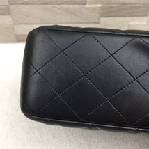 AUTHENTIC CHANEL BLACK QUILTED LAMBSKIN JUMBO CLASSIC FLAP BAG GOLDTONE HARDWARE image 5