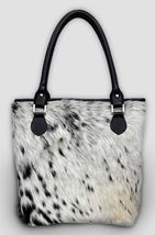 Cowhide leather tote bag work and travel computer bag shopping bag zippe... - $149.00