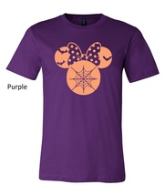 Halloween Minnie Mouse t shirt, minnie mouse glittered artwork design top tee image 8