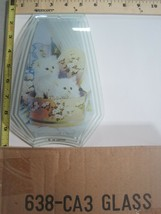 FREE US SHIP OK Touch Lamp Replacement Glass Panel Kitty Cat Kittens 638... - $9.75
