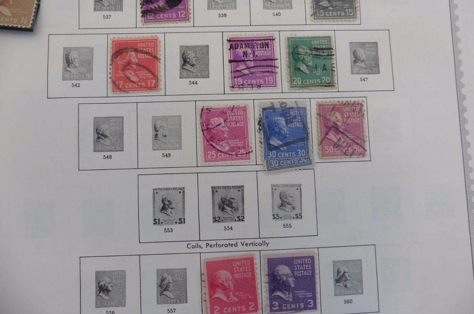 F28 United States of America USA Stamps Minkus Page 1926-34 1938-43